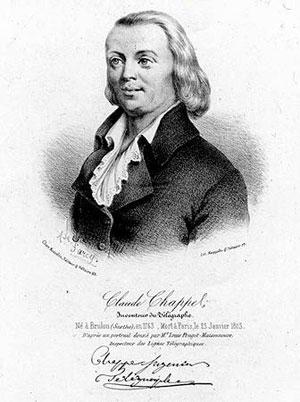 Claude Chappe invente le télégraphe 1196