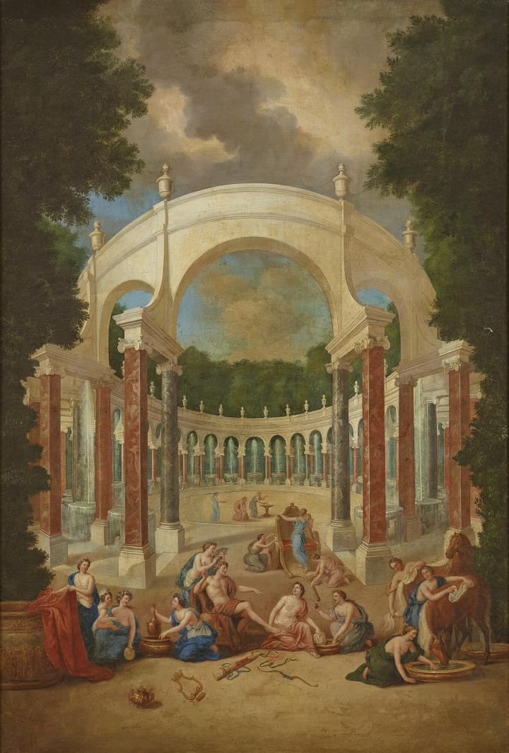 """Exposition au Grand Trianon, """" des Jardins et des Dieux """",  Jean Cotelle 1304"""