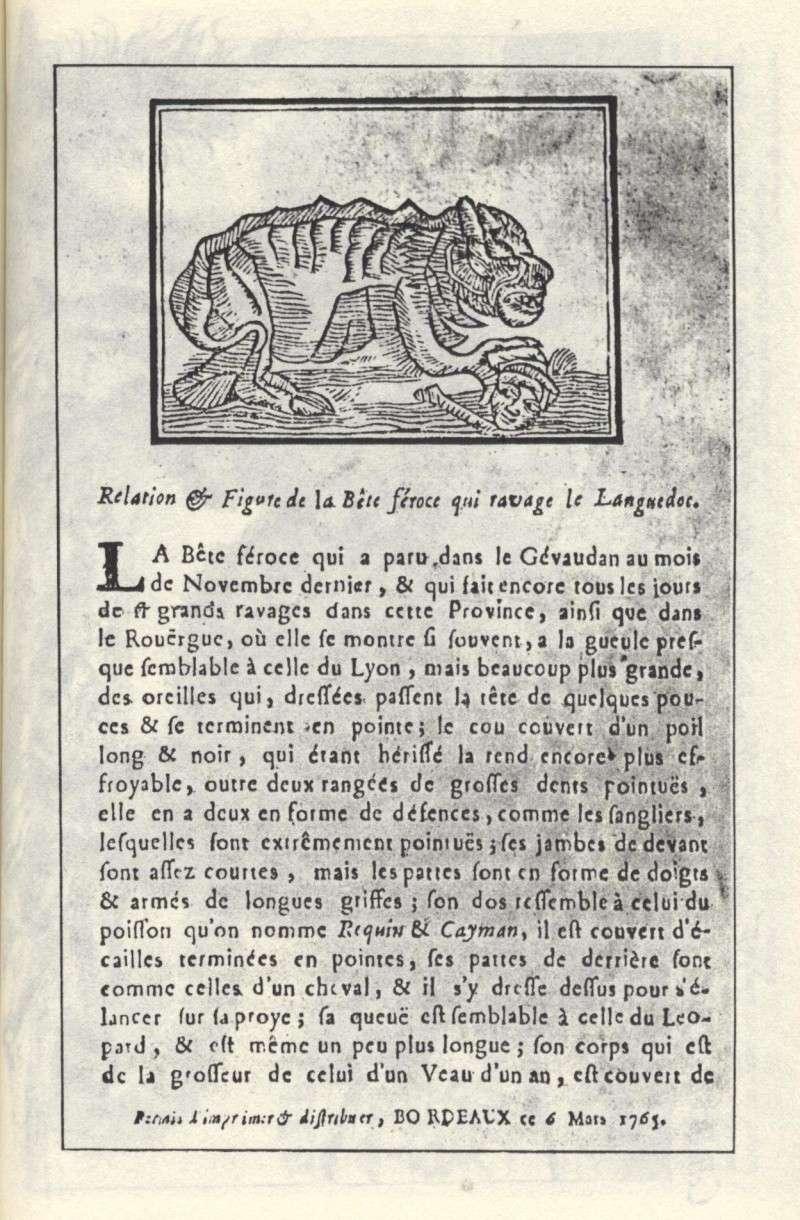 La bête du Gévaudan 1410