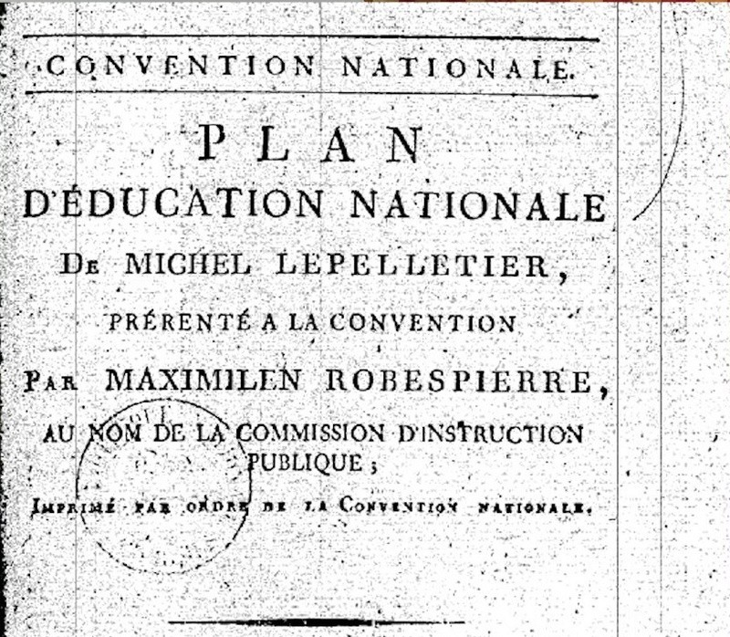 L'Education nationale à l'aune de la Révolution ... Le Pelletier de Saint-Fargeau, Condorcet 144