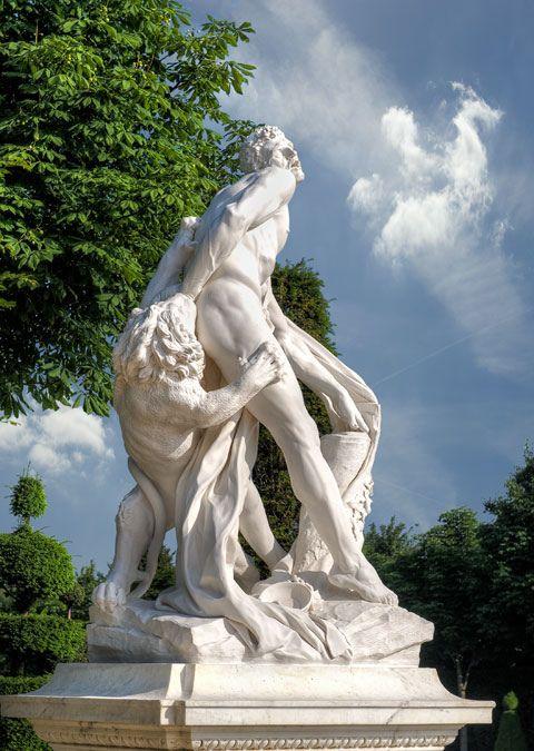 La statuaire dans les jardins de Versailles 1817