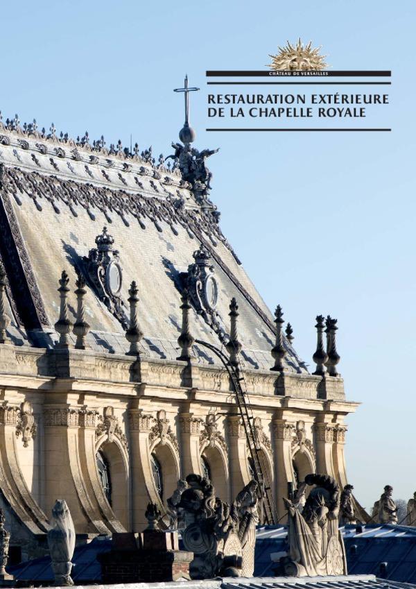 La restauration de la chapelle royale du château de Versailles 1818