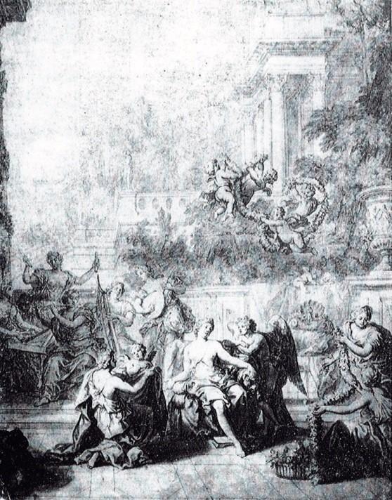 """Exposition au Grand Trianon, """" des Jardins et des Dieux """",  Jean Cotelle 2318"""