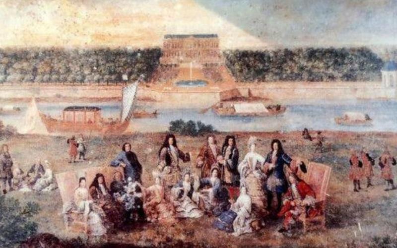 """Exposition au Grand Trianon, """" des Jardins et des Dieux """",  Jean Cotelle 2417"""