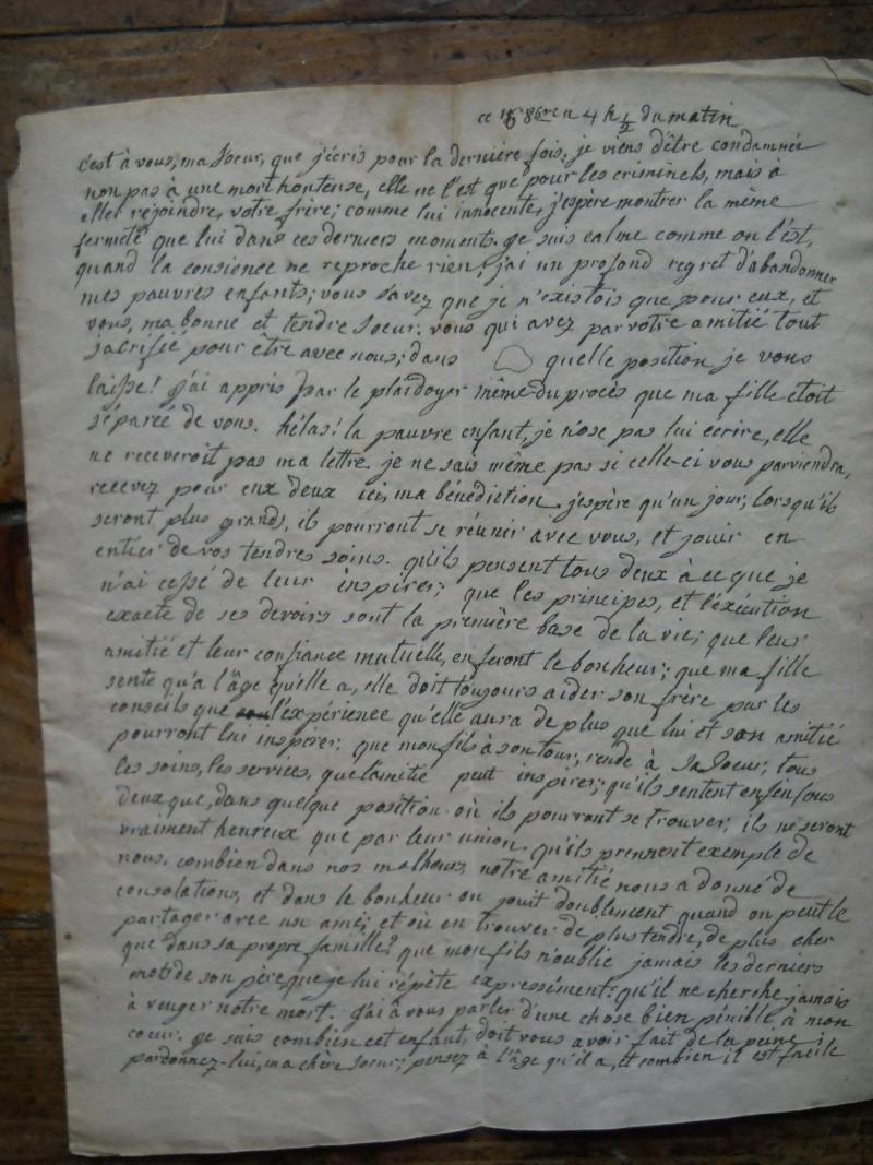 Testament / Lettre de Marie-Antoinette à Madame Elisabeth, le 16 octobre 1793 - Page 2 3411