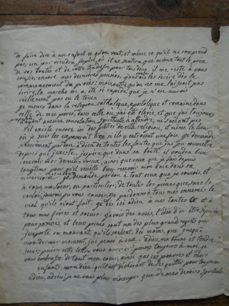 Testament / Lettre de Marie-Antoinette à Madame Elisabeth, le 16 octobre 1793 - Page 2 3511