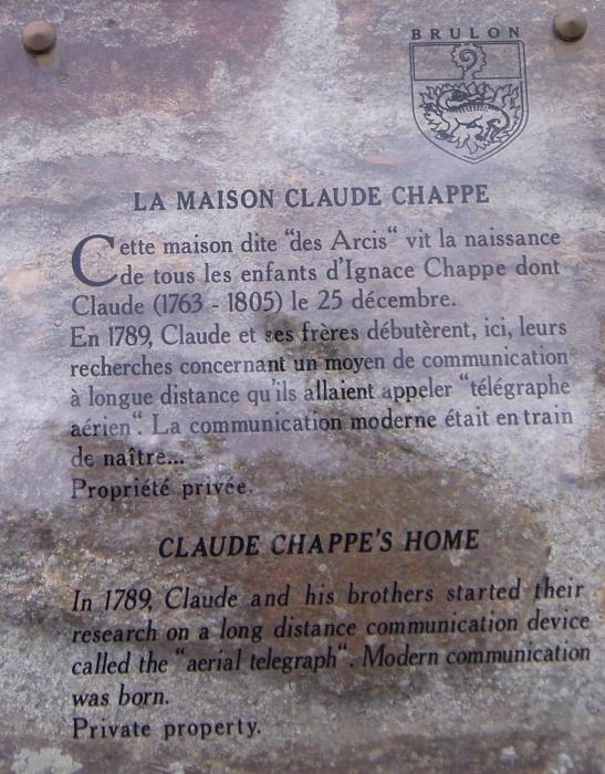 Claude Chappe invente le télégraphe 3710