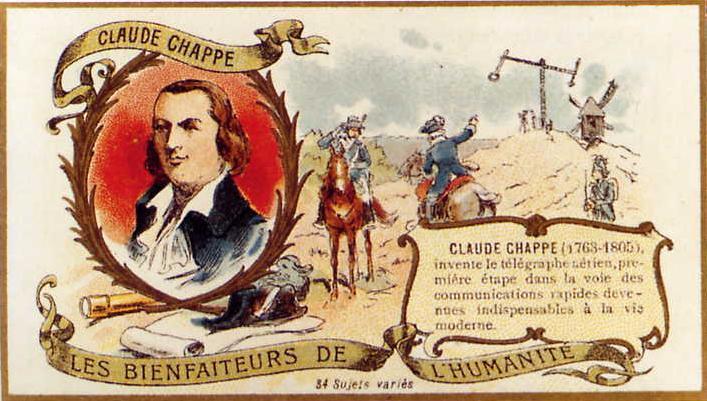 Claude Chappe invente le télégraphe 531