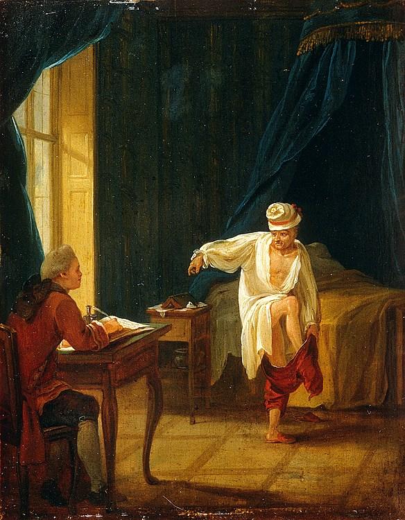 Catherine II  achète la bibliothèque de Voltaire 828