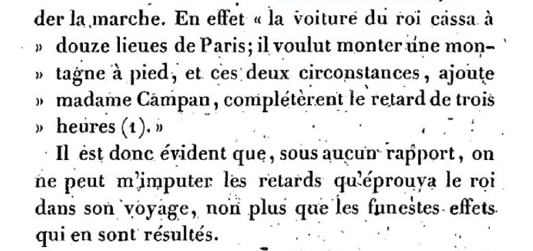 Mémoire du baron de Goguelat, sur les événements relatifs au voyage de Varennes Captu268