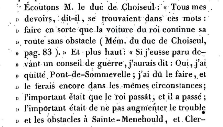 Mémoire du baron de Goguelat, sur les événements relatifs au voyage de Varennes Captu272