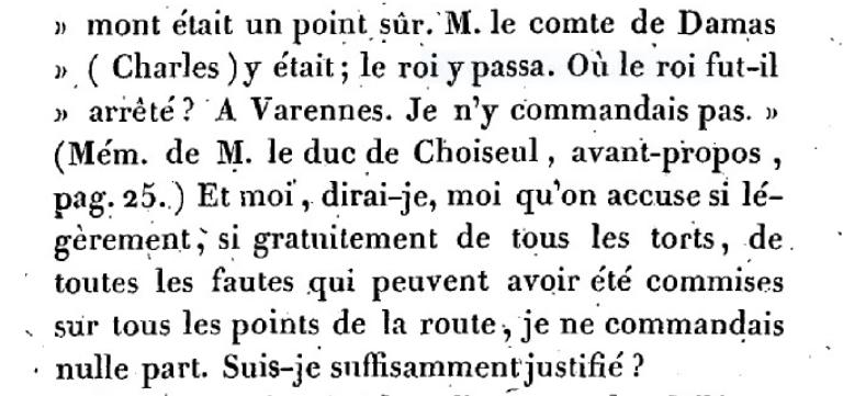 Mémoire du baron de Goguelat, sur les événements relatifs au voyage de Varennes Captu273
