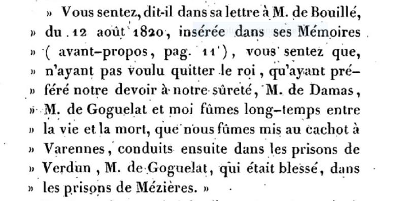 Mémoire du baron de Goguelat, sur les événements relatifs au voyage de Varennes Captu274