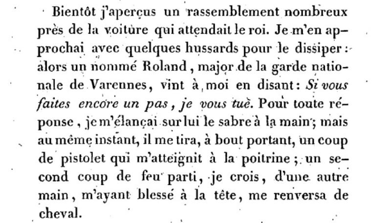Mémoire du baron de Goguelat, sur les événements relatifs au voyage de Varennes Captu280