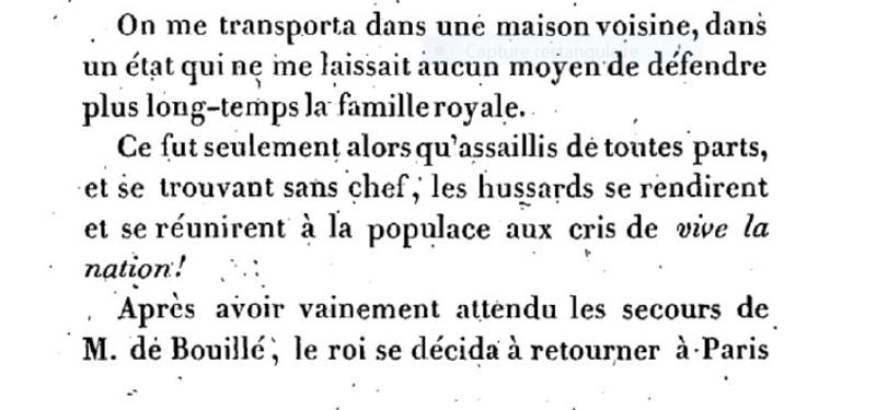Mémoire du baron de Goguelat, sur les événements relatifs au voyage de Varennes Captu281