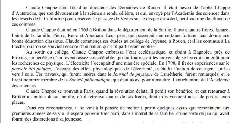 Claude Chappe invente le télégraphe Captur12