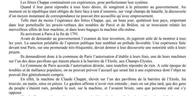 Claude Chappe invente le télégraphe Captur13
