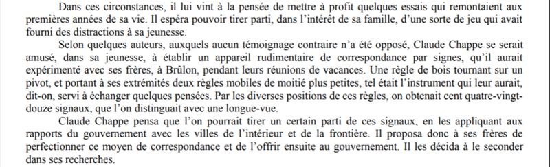 Claude Chappe invente le télégraphe Captur28