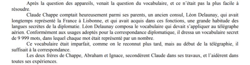 Claude Chappe invente le télégraphe Captur35