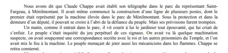 Claude Chappe invente le télégraphe Captur37
