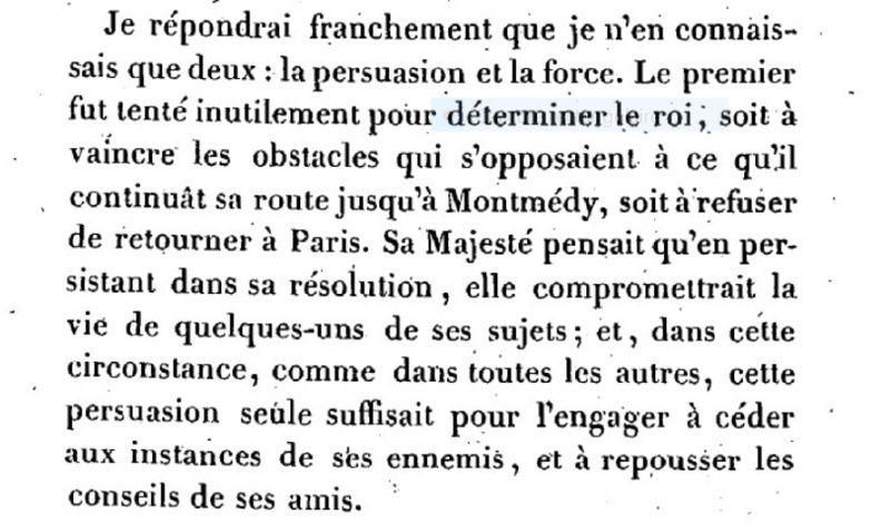 Mémoire du baron de Goguelat, sur les événements relatifs au voyage de Varennes Captur97