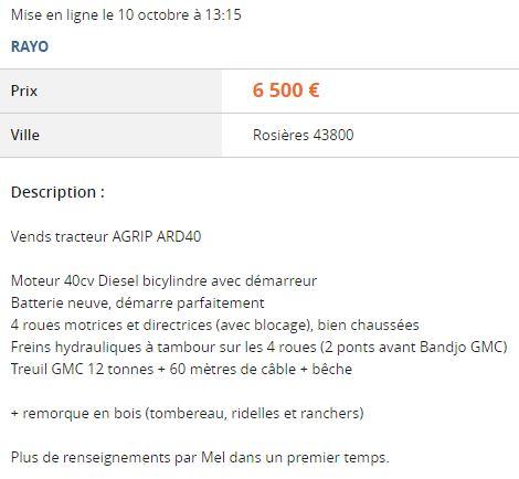 A vendre ARD 40 022