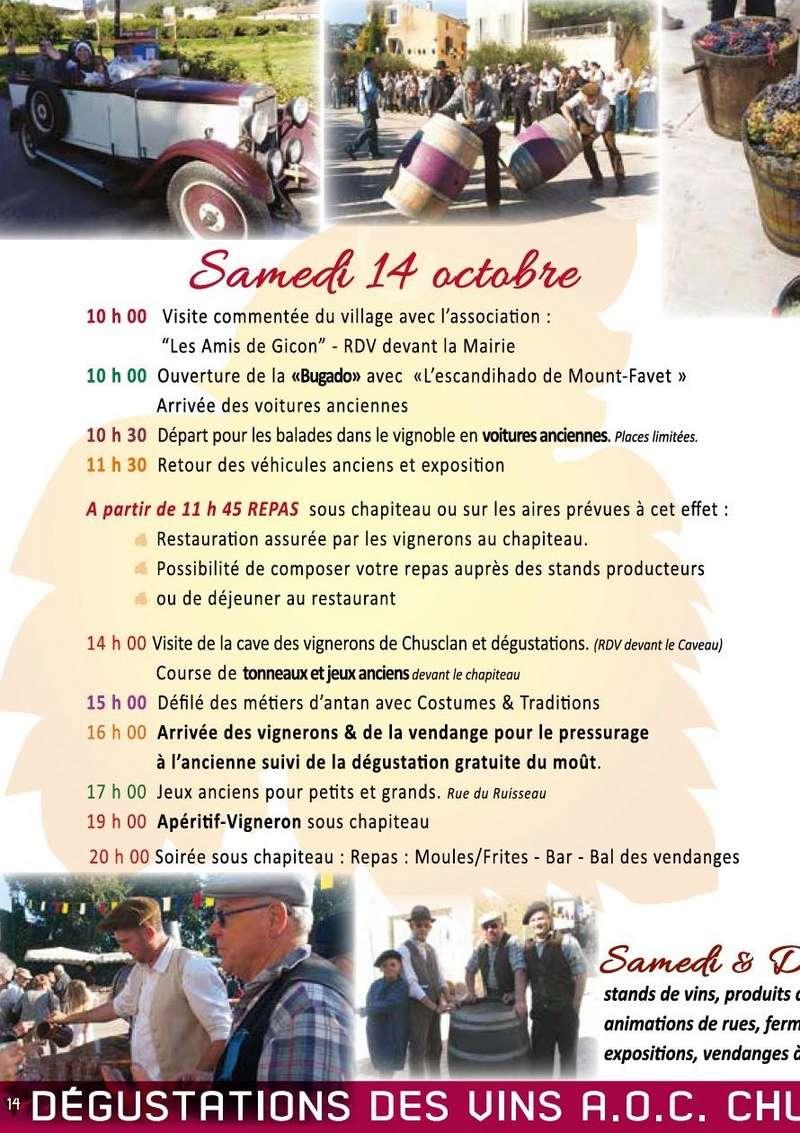 30 - CHUSCLAN : 19e Vendanges de l'Histoire les 14 et 15 Octobre 2017 1210