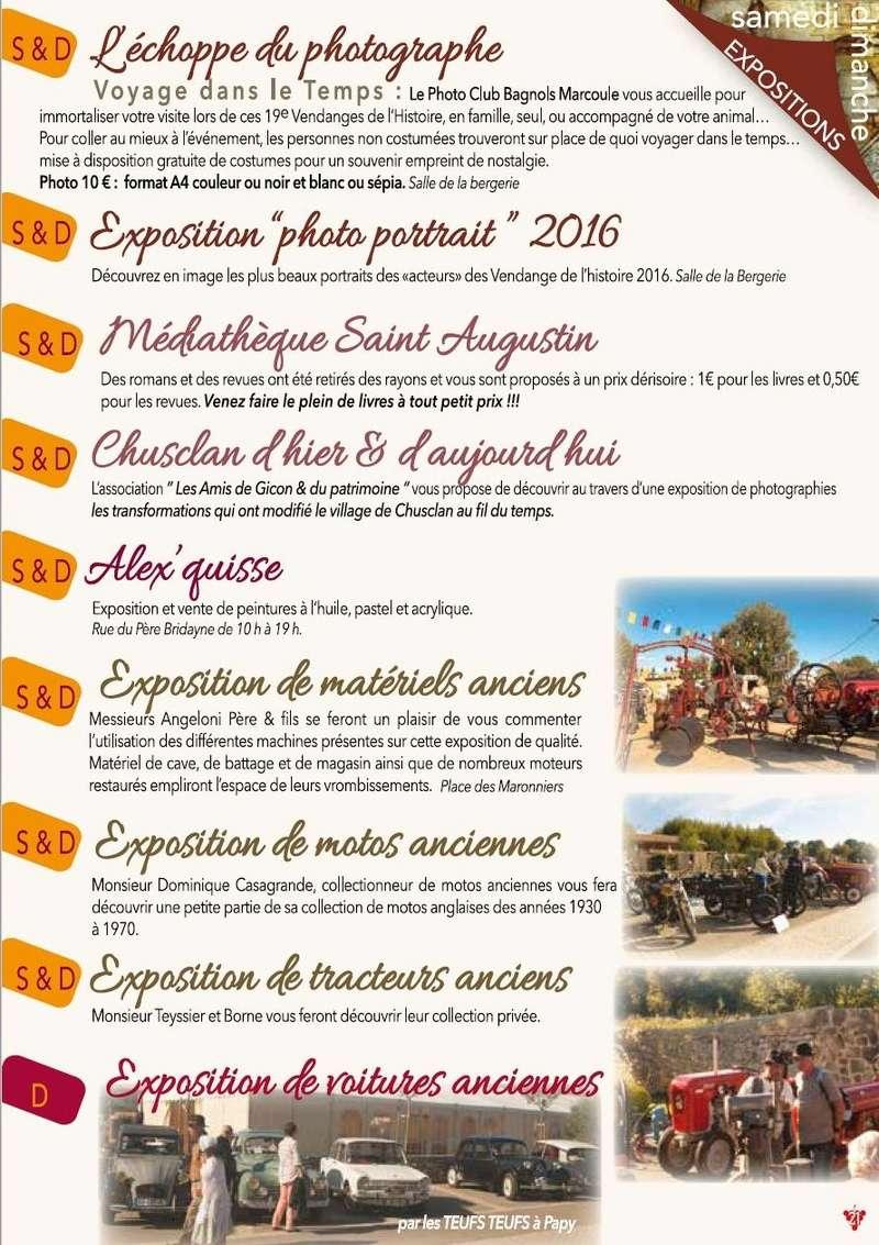30 - CHUSCLAN : 19e Vendanges de l'Histoire les 14 et 15 Octobre 2017 1610