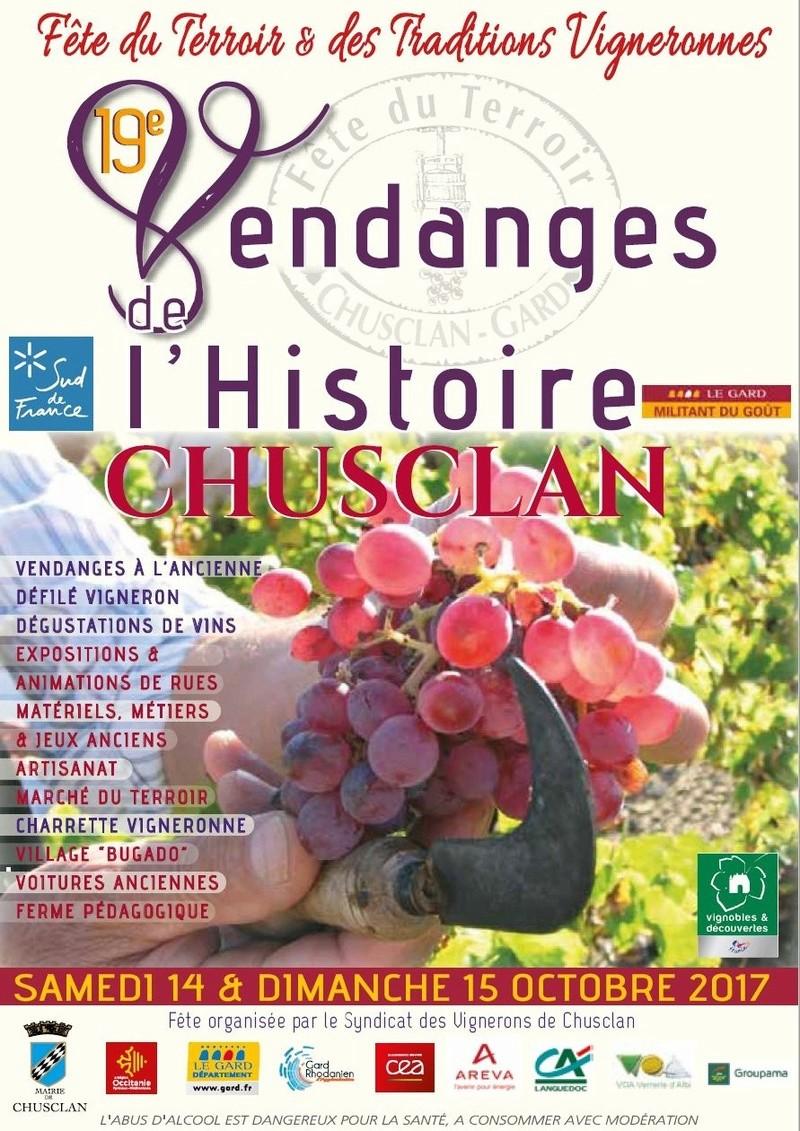 30 - CHUSCLAN : 19e Vendanges de l'Histoire les 14 et 15 Octobre 2017 417