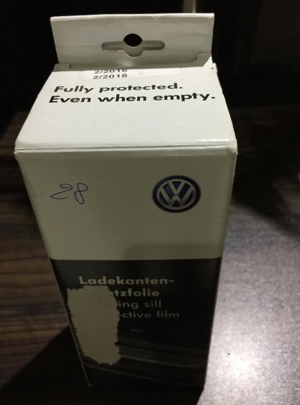 film de protection de pare choc Arrière d'origine VW T5 Img_6112