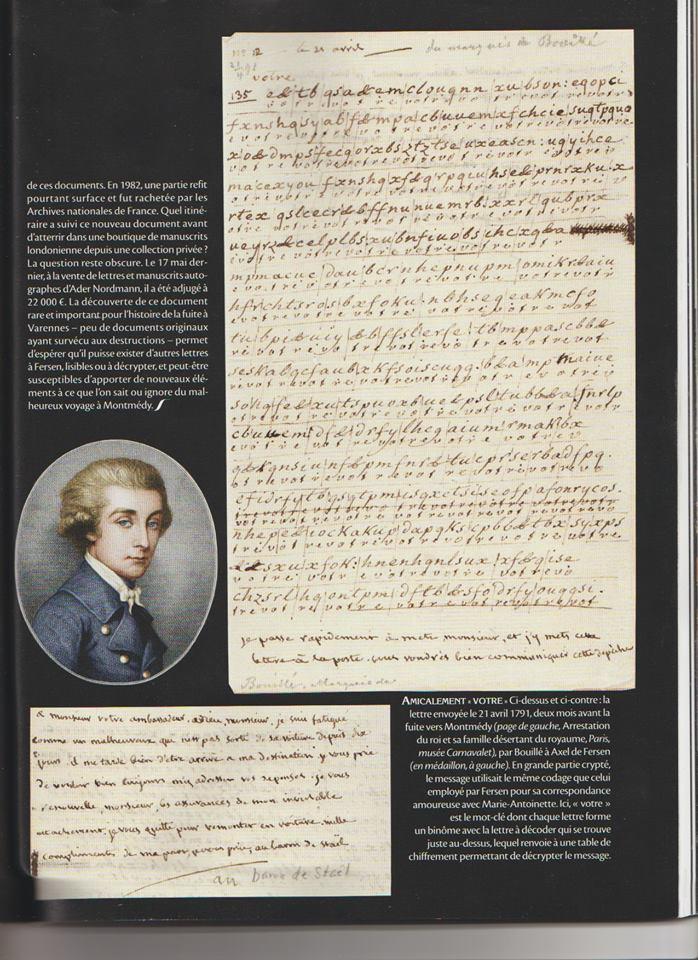 Voyage de Montmédy-Varennes, lettre inédite et chiffrée de Bouillé à Fersen Zzzzzi11