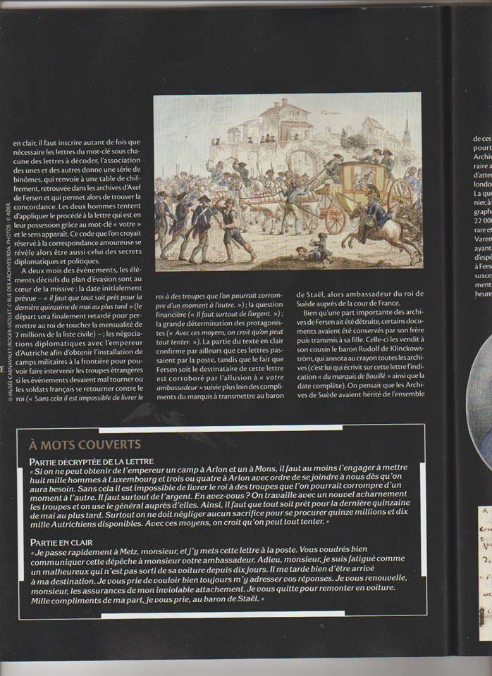 Voyage de Montmédy-Varennes, lettre inédite et chiffrée de Bouillé à Fersen Zzzzzi12