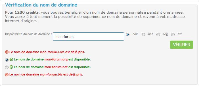 Noms de domaine personnalisés Domain10
