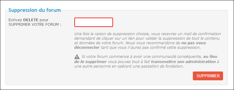 Suppression et réactivation d'un forum Existe11