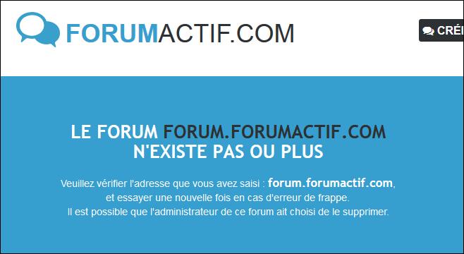 Rimozione e Ripristino di un forum Existe12