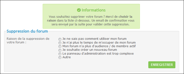 Suppression et réactivation d'un forum Existe13