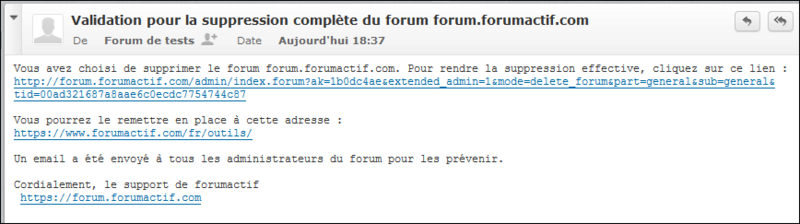Suppression et réactivation d'un forum Existe15
