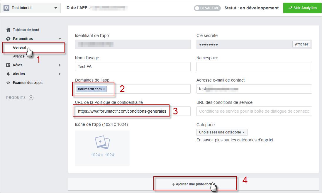 Configurer et utiliser Facebook Connect sur son forum Fb110