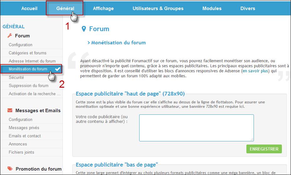 Monétisation facilitée du forum Monet10