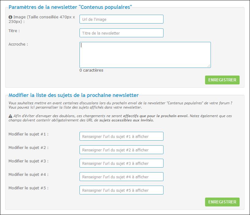 "Les newsletters ""contenus populaires"" Newsco10"