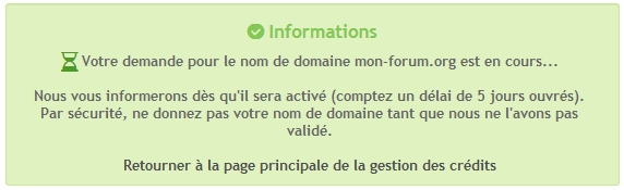 Noms de domaine personnalisés Tuto317