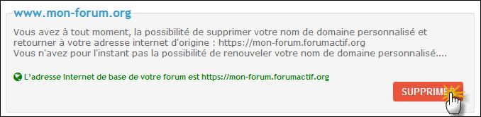 Supprimer ou transférer un nom de domaine personnalisé Tuto811