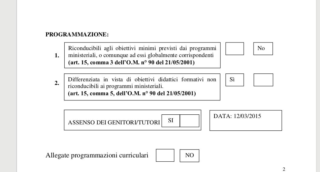 Scrutini finali alunni h:riferimenti normativi tra programmazione ad obbiettivi minimi e programmazione differenziata Scherm13