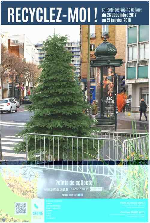 Collecte de sapins par Grand Paris Seine Ouest (GPSO) Affich10