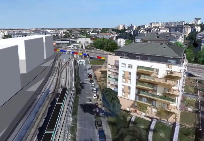 Téléphérique Boulogne-Billancourt (Pont de Sèvres) - Vélizy Clip1099