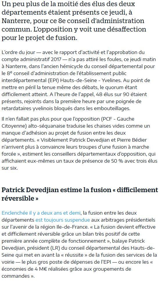 Fusion des départements des Hauts de Seine et des Yvelines Clip1173