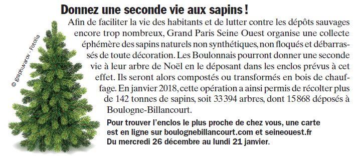 Collecte de sapins par Grand Paris Seine Ouest (GPSO) Clip1246