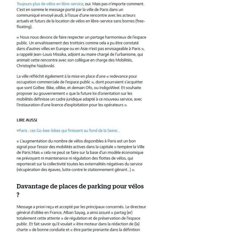 Concurrents de Vélib Clipb175
