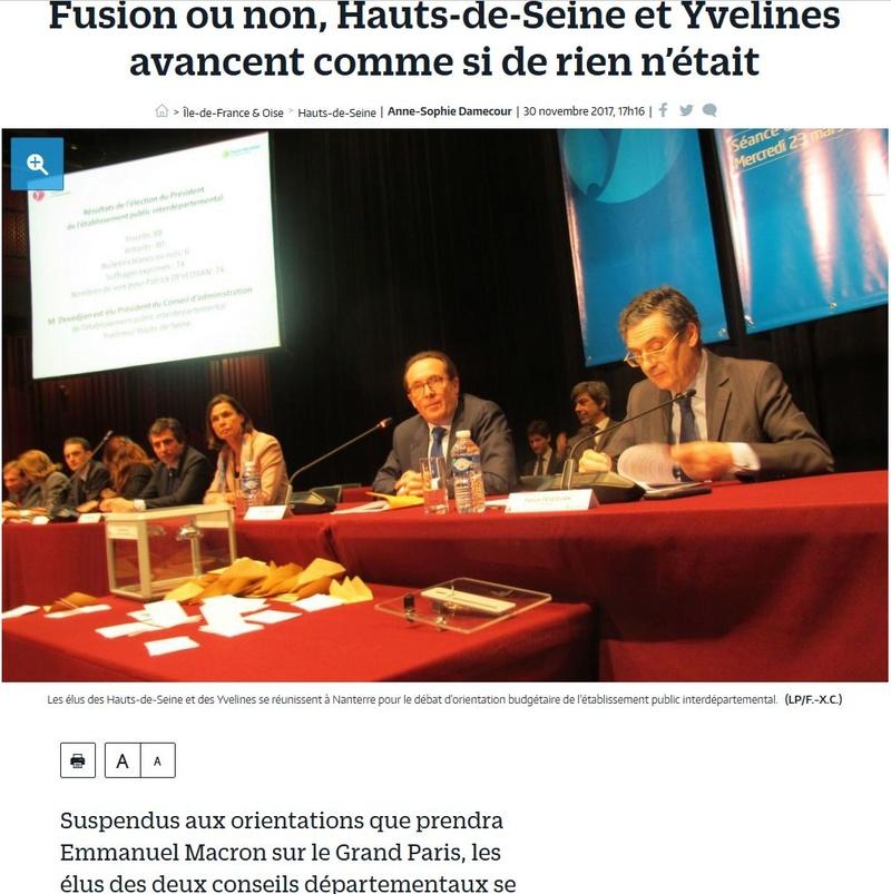 Fusion des départements des Hauts de Seine et des Yvelines Clipb239