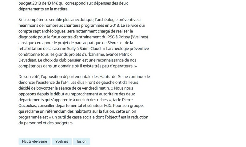 Fusion des départements des Hauts de Seine et des Yvelines Clipb241